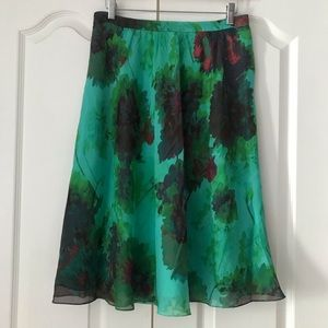 J. Crew Collection Silk Skirt Hothouse Floral 10